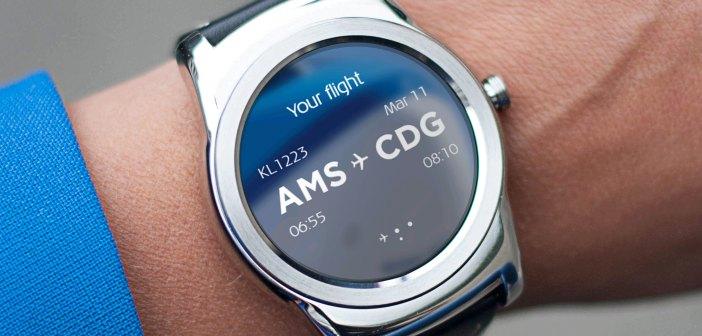 KLM lanceert app voor Android Smartwatch