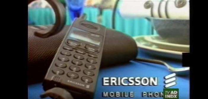 Humor in gouwe ouwe mobiele commercial van Ericsson uit 1996