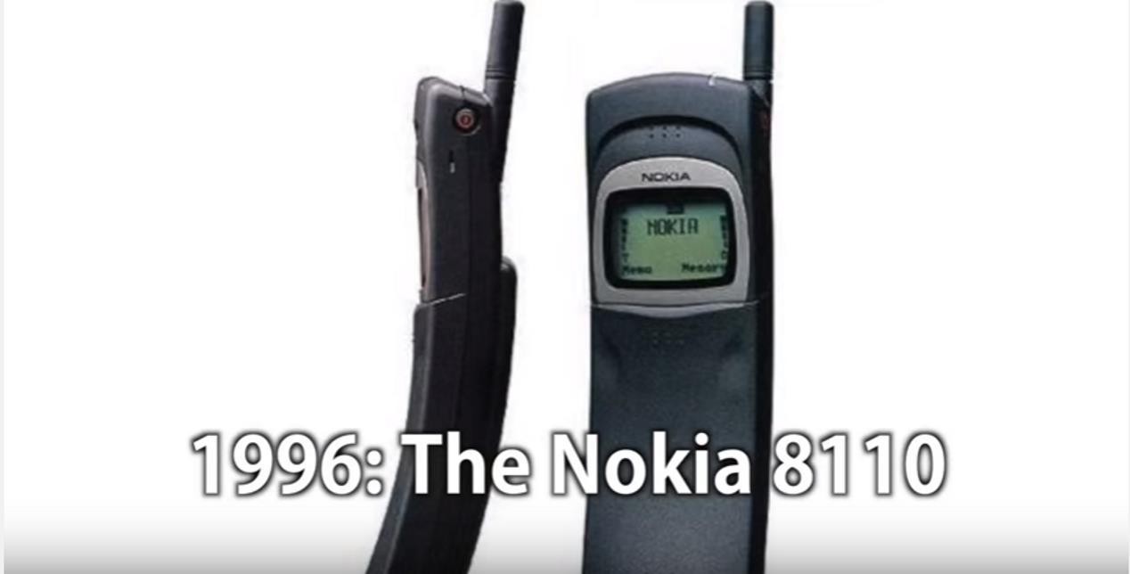 De evolutie van de mobiele telefoon in nog geen 2min video.