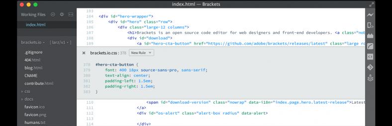 brackets gratis tekst editor script