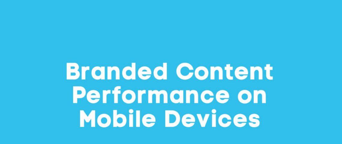 Het optimale design voor branded content op mobiel. Infographic