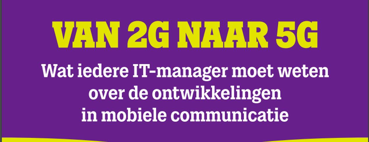 De mobiele evolutie van 2G naar 5G. Infographic