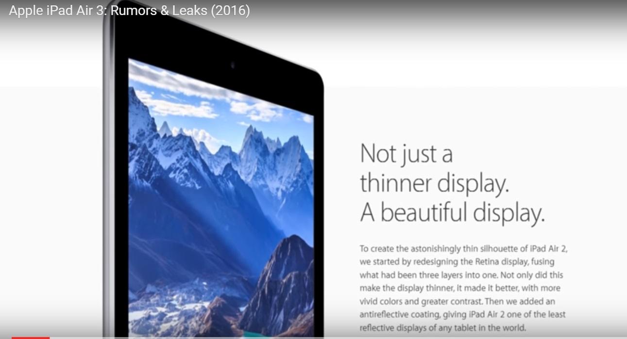 iPad Air 3 komt er aan in 2017. En jij krijgt alvast een voorproefje
