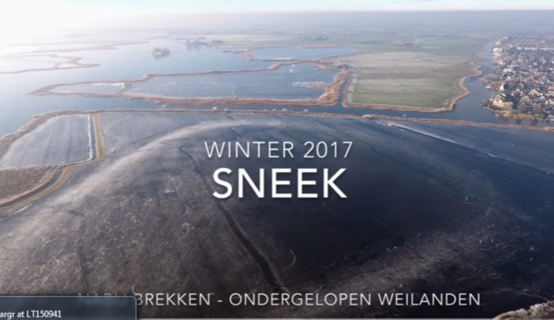 Drone laat zien hoe mooi Nederland is als schaatsland