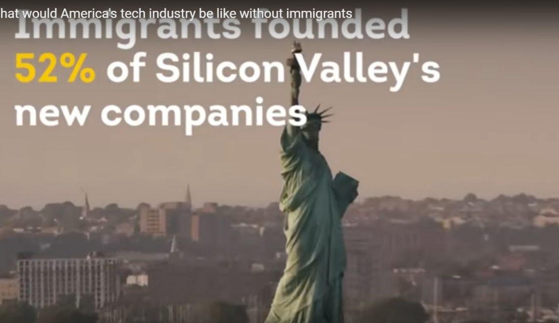 Hoe de technologische industrie er uit zou zien zonder immigratie. Video