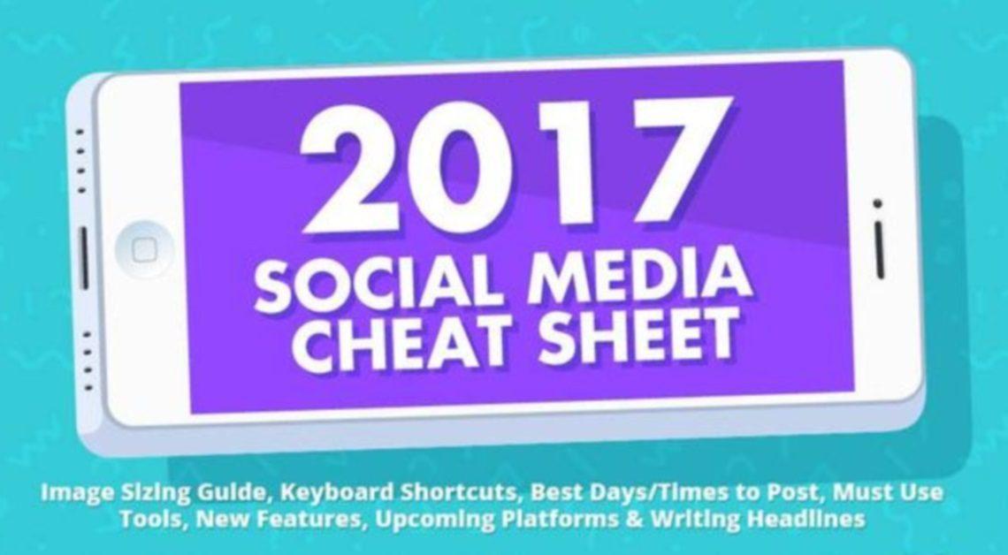 De 2017 'Social Media Cheat Sheet' is er weer voor elke social media marketeer