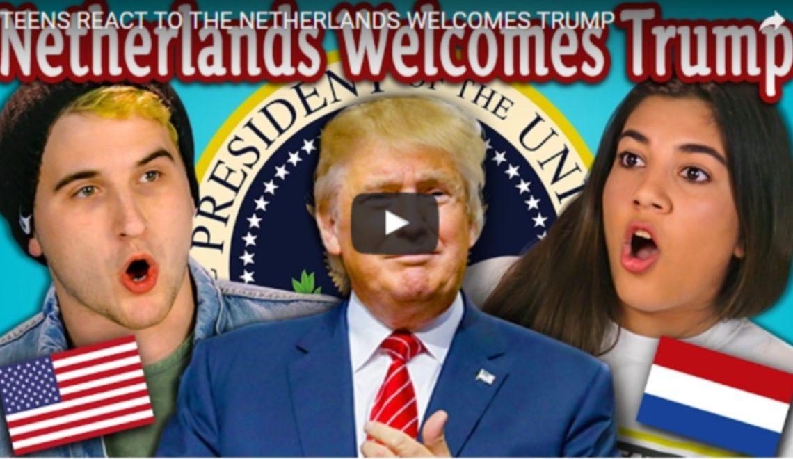De reactie van Amerikaanse tieners op succesvolle Lubach's video'Nederland verwelkomt Trump' is wel erg funny
