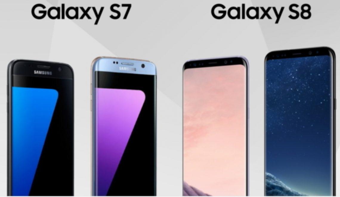 Samsung Galaxy S7 vs Samsung Galaxy S8. Infographic
