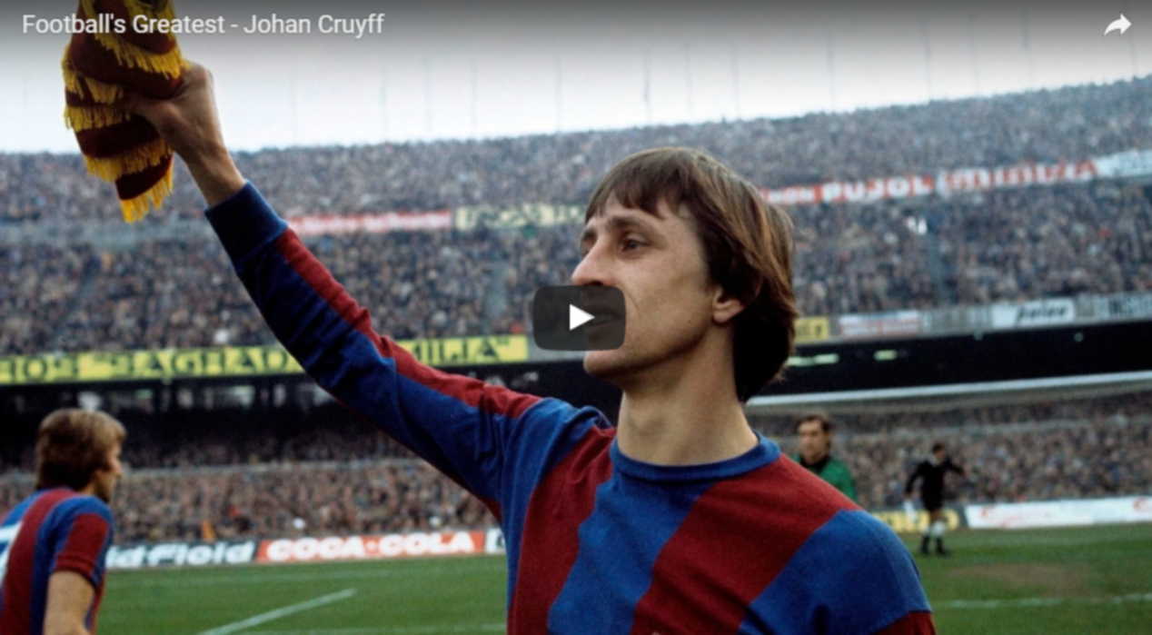 Johan Cruijff; een eerbetoon aan de grootste aller tijden. Video