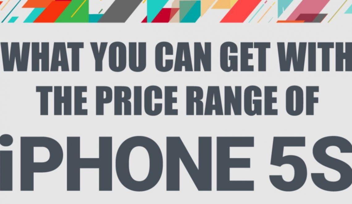 iPhone 5S vs Android mobiele telefoons. Dezelfde prijsklasse, maar voor welke ga je? Infographic.