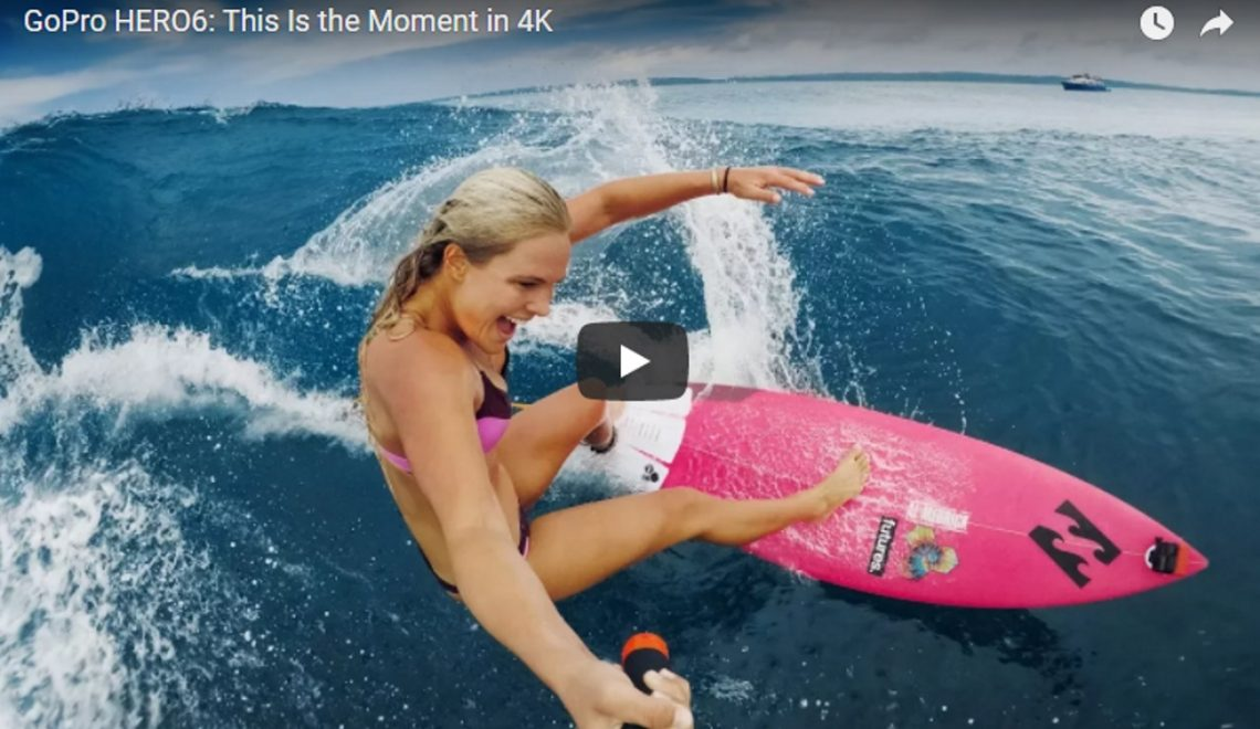 Nieuwe promo GoPro HERO6 'this is the moment in 4K' is hot op social