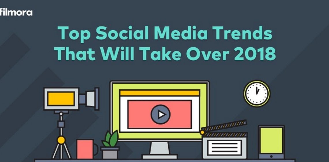 Top Social Media Trends 2018. Infographic