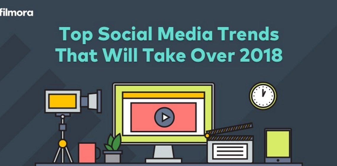 De Social Media Trends 2018. Infographic