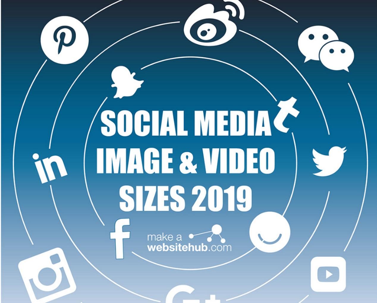 Sociale Media formaten afbeeldingen&video fact sheet 2019